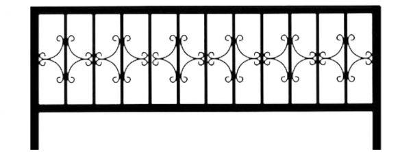 Ограда стальная №25