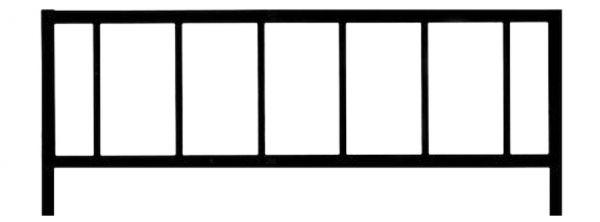 Ограда стальная №26