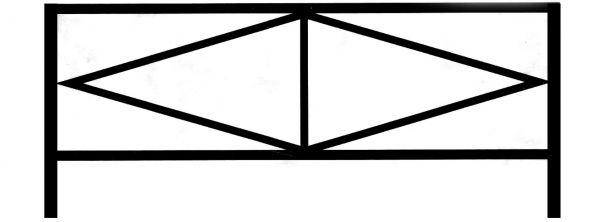 Ограда стальная №28