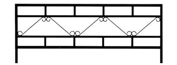 Ограда стальная №30