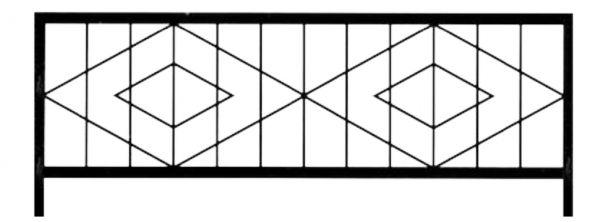 Ограда стальная №31
