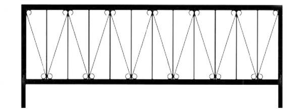 Ограда стальная №32