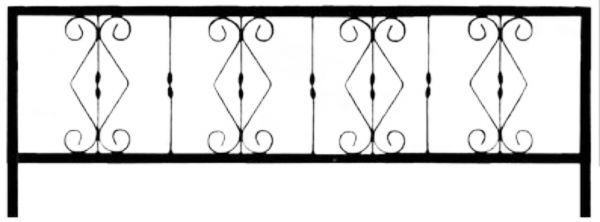 Ограда стальная №33