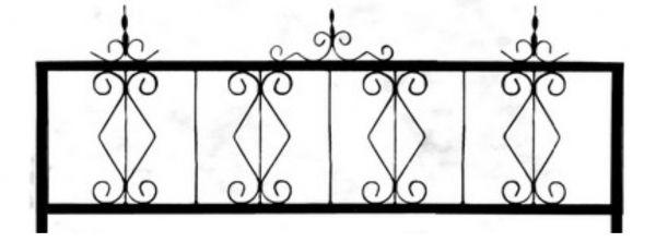 Ограда стальная №34