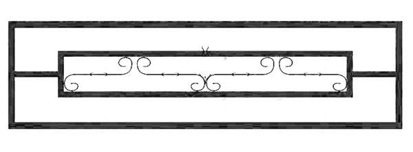 Ограда стальная №37