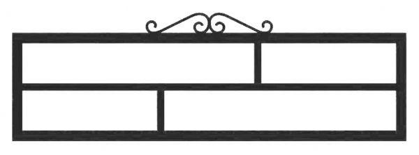 Ограда стальная №39
