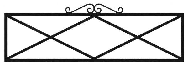 Ограда стальная №41