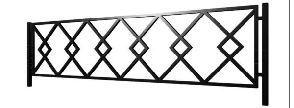 Ограда стальная №42