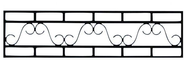 Ограда стальная №47