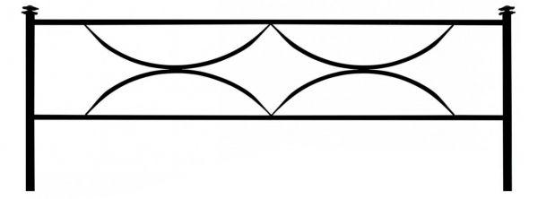 Ограда дуговая №15