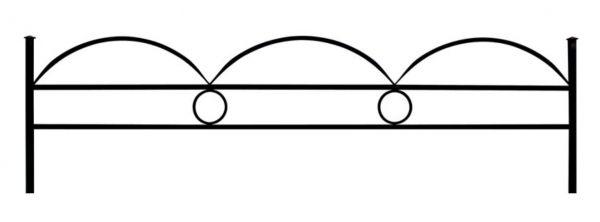 Ограда дуговая №15 с кольцом