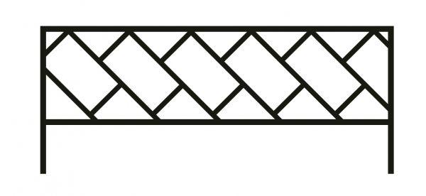 Ограда стальная №43