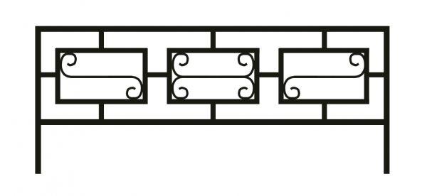 Ограда стальная №44