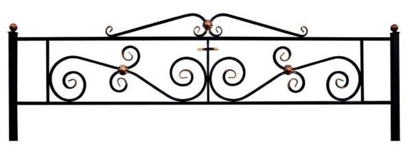 Ограда Паллада с навершием