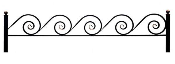 Ограда улитка 15