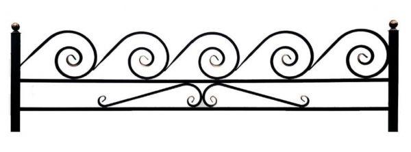 Ограда улитка 15 на поясе